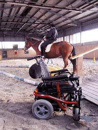 wheelchair and rider